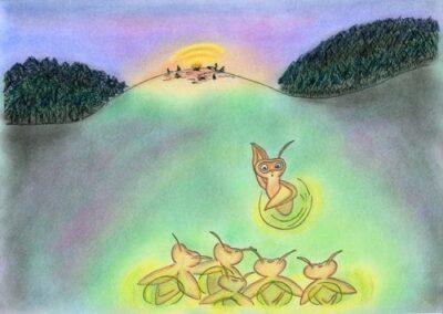 Noc świetlików Wiersz Dla Dzieci Bajki Zasypianki
